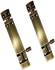 "NexStar 4-inch"" Full Round Tower Bolt Door Latch (Set of 2)-Antique Finish"