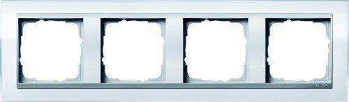 Preisvergleich Produktbild Gira 0214726 Abdeckrahmen 4-fach für alu Event klar, weiß