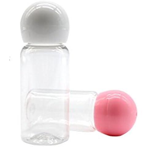 4pcs 30ml Vuote Ricaricabili Ball, Bottiglia a forma di fungo, Bottiglia All' interno piccolo bottiglie di plastica e cosmetici Flacone