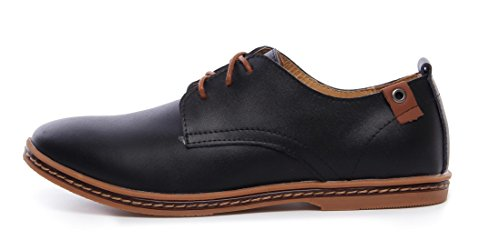 DADAWEN Homme Commercial style leather Oxford chaussure Noir(B)