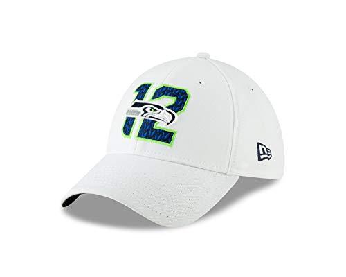 New Era Seattle Seahawks 39thirty Stretch Cap Nfl19 Spotlight White - S-M -