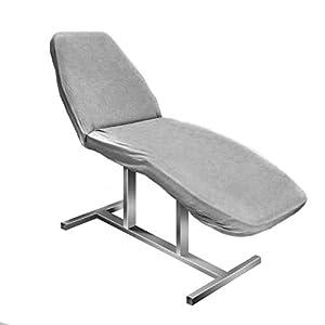 Activeshop Frottee Spannbezug für alle gängigen Kosmetikliegen Massageligen Massagebank Klappbar Massagestuhl Grau messung 60 x 190 cm extra-pflegeleicht