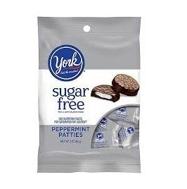 York Peppermint Patties, Sugar Free, 3-ounce Packages (Pack of 3) by York