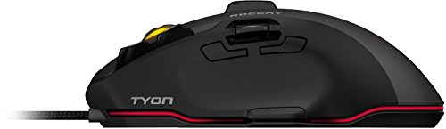 Roccat Tyon All Action Multi-Button Gaming Laser-Maus (8200dpi, 14-Tasten, USB) grau/schwarz - 9