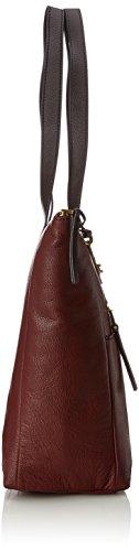 Fossil Damen Tasche Fiona-Shopper Schultertasche, 14x29.2x34.3 cm Rot (Cabernet)