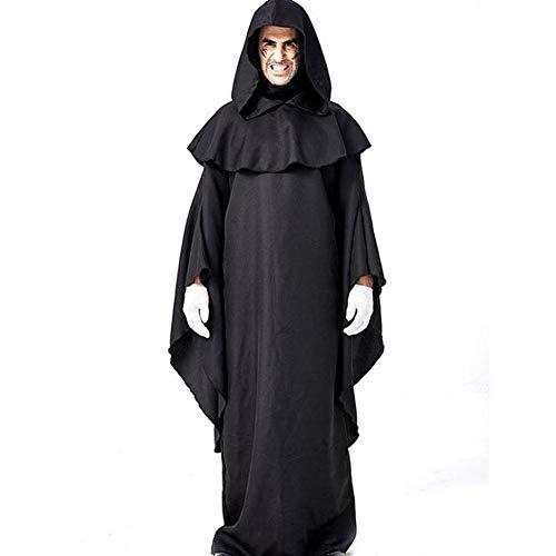 Kostüm Halloween Einfaches Ein - QWE Halloween Kostüm schwarz einfache Robe Dämon Anhänger Kostüm Bühnenkostüm Erwachsenen Leistung Kostüm