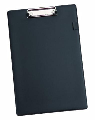 Alba PLAQUE Plaque Porte-Bloc Pvc avec Pince Pour Bloc / Feuilles A4 noir