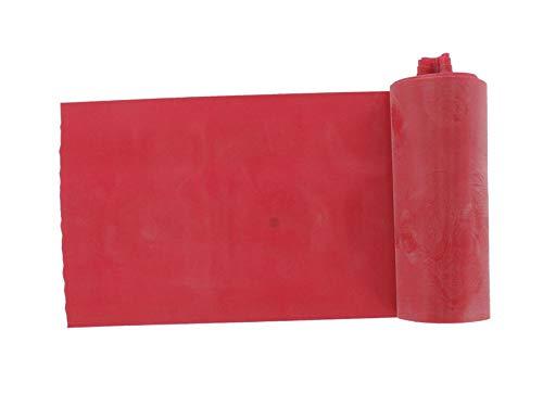 Gima - fascia o banda elastica per riabilitazione, colore rosso resistenza media, misura 5,5 m x 14 cm x 0,20 mm, senza lattice