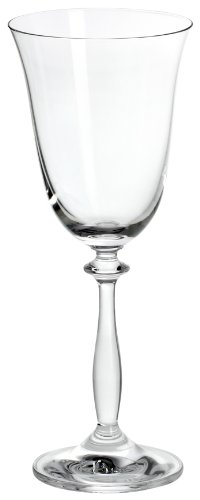 Bohemia Cristal 093/006/002 Angela -Verre à vin 250 ml Lot de 6