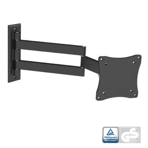 """Kanex Black Full-Motion Tilt/Swivel Wall Mount Bracket for Hannspree Hanns-G HP205DJB 20"""" inch LED HDTV TV/Television - Articulating/Tilting/Swiveling"""