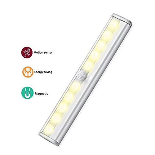 Wandschrank-bar (Kabinett Lichter, SUAVER Stick-on Irgendwo Tragbare 10-LED Wireless Motion Sensing Closet Kabinett Wandschrank, Bar-Licht-Lampe (Warmweiß))