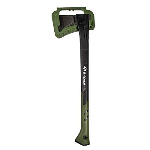 Ultranatura Spaltaxt inkl. Klingenschutz, Länge ca. 71 cm, Profi-Axt mit Dicker Klinge, ideal für Spaltarbeiten und Hacken von Holzstücken mit 30 cm und mehr Durchmesser -