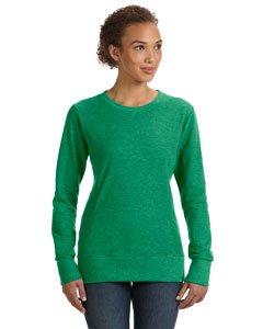 Anvil Damen Sweatshirt mit DREI Nadeln, Bestickt, mittelgroß, Hellgrün, Damen, Grün (Heather Green), X-Large (Jumper Bestickte)