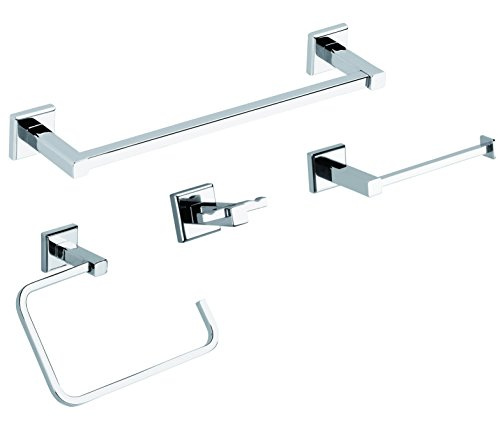 Gedy Colorado Set de Piezas Accesorios de Pared, Acero Inoxidable, Cromo, 7x31x50...