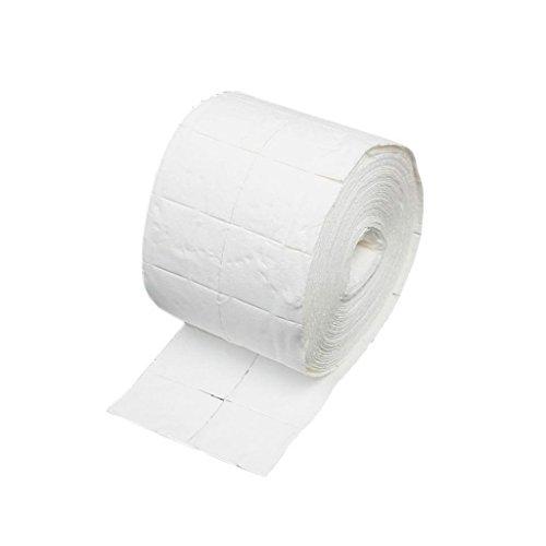 Welim - Toallitas para limpiar las uñas, toalla para eliminar las uñas, toallitas absorbentes para limpiar las uñas (500 hojas), color blanco