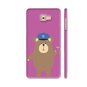Colorpur Police Office Brown Bear Artwork On Samsung Galaxy C7 Pro Cover (Designer Mobile Back Case) | Artist: Torben