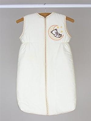 Bebé saco de dormir con cremallera 0–6meses/2.5Tog Wrap Bolsa–luna bordado crema