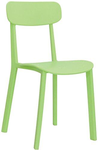 Brianza Outlet Easy Sedia di Design, Verde, 46 x 41 x 80 cm