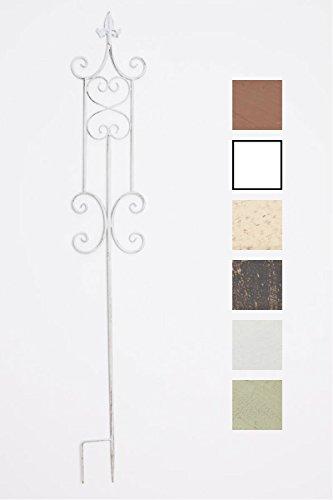 CLP Treillis de Jardin Azula - Support pour Plantes Grimpantes en Fer avec Une Hauteur de 123 cm - Tuteur pour Plantes - Couleur: Blanc Antique