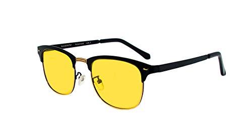 rainbow safety Herren Damen Sonnenbrille Auto Brille Nachtsichtbrille Polarisierte Gläser RWNP4 (Nachtfahrbrille)