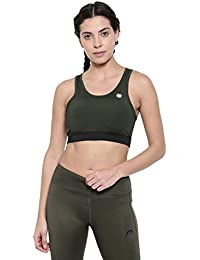 7ccca5ab5 Proline Active Women Olive Black Sports Bra  Amazon.in  Clothing    Accessories