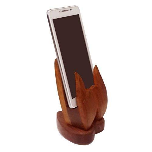 Forme mobile en bois de main de support, pour maintenir mobile à l'endroit sûr de manière unique, jour de Pâques / fête des mères / cadeau de vendredi bon