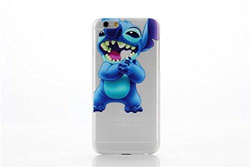 Coque iPhone 5s / Stitch couvercle de gel de bande dessinée pour Apple iPhone 5s 5 / protecteur d'écran et écran chiffon par iCHOOSE / Riant Frotter les Mains