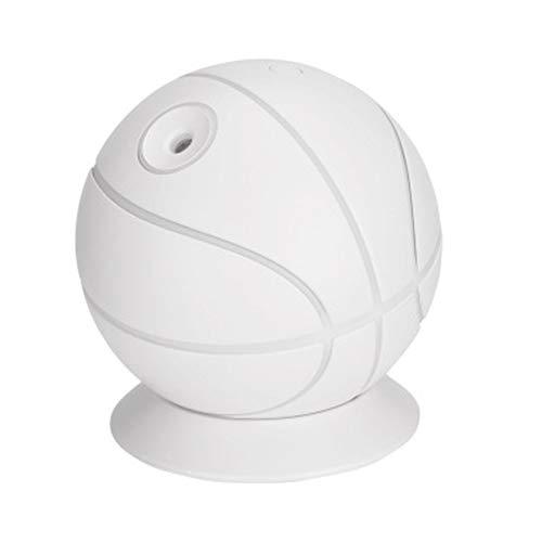 ZSH Luftreiniger 240 ML Große Kapazität 35 ML/H LED Luftbefeuchter Haushaltsstumm Mini Büro Desktop Aromatherapie Basketball Handschalter mit USB-Kabel (Weiß, Rosa, Blau),White