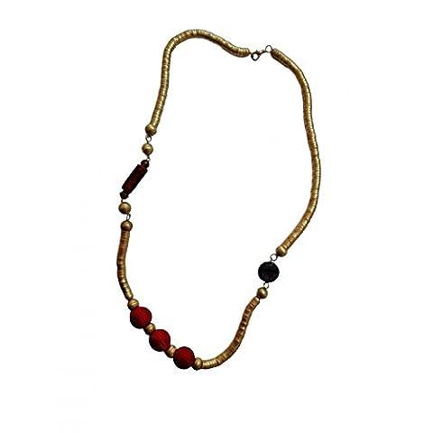 Collier du Pharaon avec perle rouge