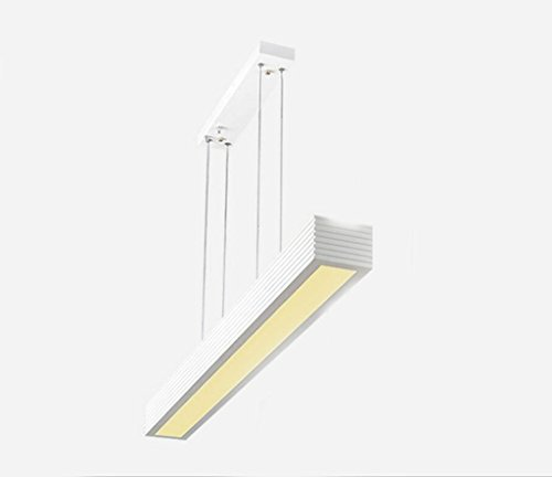 Miaoge LED lustre bureau éclairage éclairage suspendre ligne lampe moderne simple restaurant bar salon lustre 900mm * 251mm
