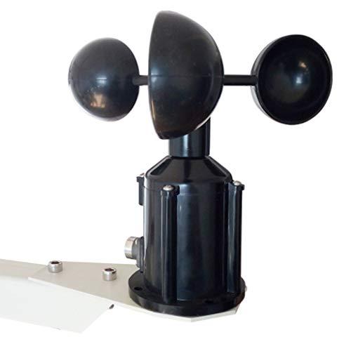 Zcyg Anemometer Wind Speed Meter 3-Cup Luftgeschwindigkeitssensor, Wetterstation Windgeschwindigkeitssensor Transmitter Ultraschall Meteorological-Lichtschranke