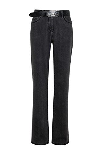 WOMEN'S BEST WomensBest Damen Bottcut Jeans Lindau W48 L32, Dark Grey Womens Dark Denim
