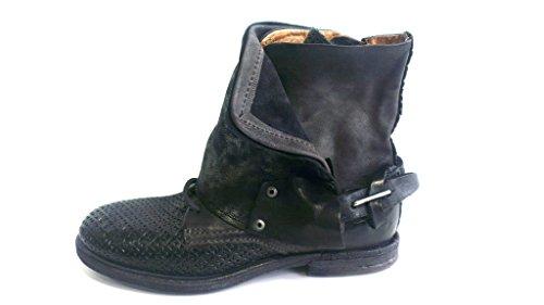 A.S.98 518208-1320-7082 Damen Biker Boots Nero