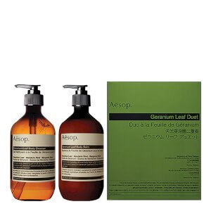 Aesop Geranium Leaf Body Cleanser und Balm Duet - Energizing Body Gel