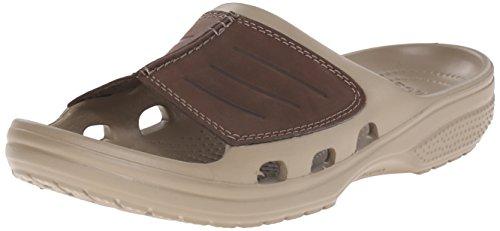 crocs Yukon Mesa Slide, Herren Dusch- & Badeschuhe, Braun (Khaki/Espresso), 46-47 EU (Herren Crocs Yukon)