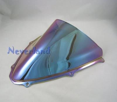 Rowzy (TM) New Moto doppia bolla parabrezza per Suzuki Gsxr 600750K62006-20070607# 60C10