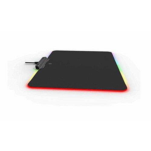 Chunyang Bequemen RGB Beleuchtung Ver?nderbarer Big Fest Computer-Spiel-M?usematten Notebook Mouse Pad Bunt Touch Control (Ge-licht-schalter)