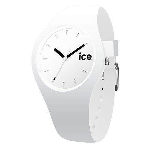 Ice-Watch - Ice Ola White Black - Weiße Damenuhr mit Silikonarmband - 000992 (Small)