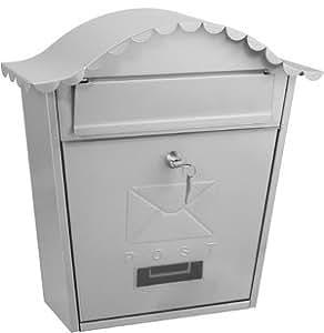 De Vielle TSH023Z Abschließbar Wandhalterung Klassischer Briefkasten, Silber