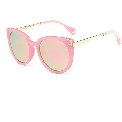 Zxyan Retro / Mode / Polarisiert / Europa Trend / Große Rahmen Sonnenbrille Männliche Frau,Pink2
