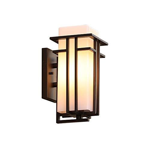 Wylolik Rustikales Bauernhaus Außenwand Leuchte Glas Veranda Terrassenlampe Retro Wasserdichte Vintage Wandleuchte Single Head Metal Home Korridor Schmücken Beleuchtung Classic E27 Edison Wandleuchte -