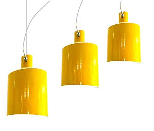 YOZYX LED Pendelleuchte Mini Kleine Hängelampen Kreative Nacht Kleine Ölflasche Dekoration Lichter Studie Veranda Schlafzimmer wohnzimmer-yellow-3heads - Die 3 Hellen, Rustikalen Kronleuchter