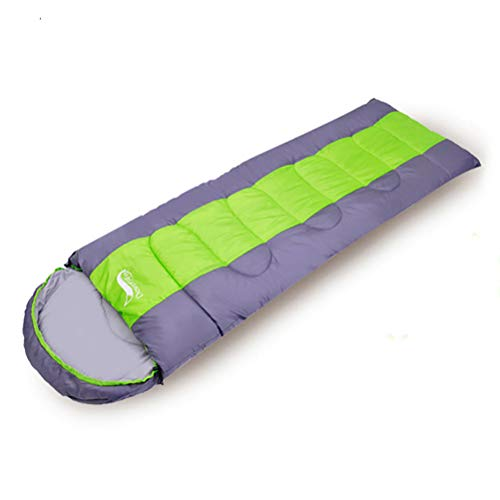 HAJZF Sacco a Pelo Estivo, Leggero 4 Stagione Caldo & Cold Busta Backpacking Sacco a Pelo per Outdoor viaggiando Escursionismo,Green