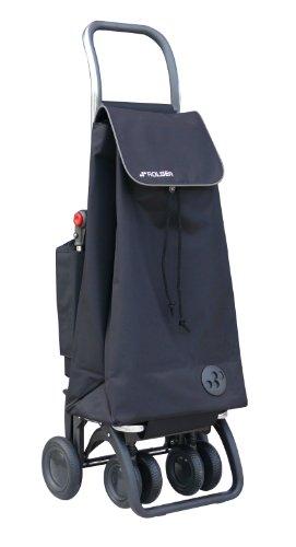 Rolser Einkaufsroller Logic Tour/Pack Thermo MF, PAC047, 39,5 x 32,5 x 106 cm, 47 Liter, 40 kg Tragkraft, schwarz