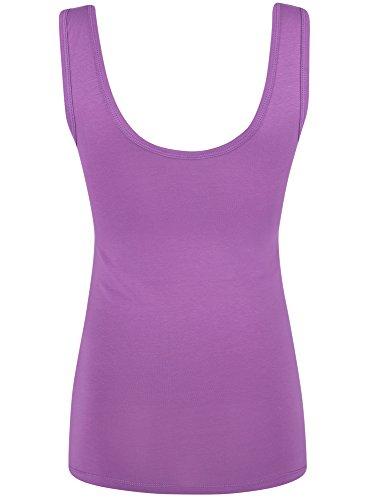 oodji Ultra Damen Trägershirt mit Rüschen Violett (4C00N) ...