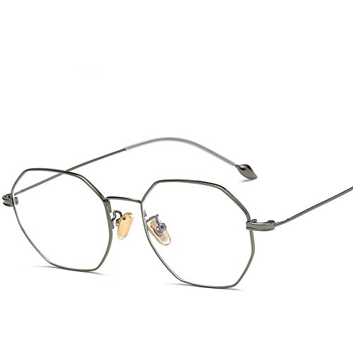 SEBAS Home Mens Sunglasses Frauen Metall Perle Fuß Draht Brille Rahmen Kunst Brillengestell Frame Trend Hundert Runde Computer Spiegel
