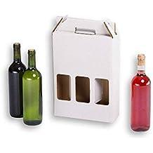 TeleCajas X20CBVB3U (x20) Cajas de cartón Estuche para botellas de vino para 3 botellas
