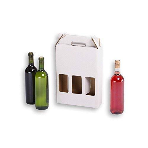 Cajas botellas vino automontables. Estuche cartón