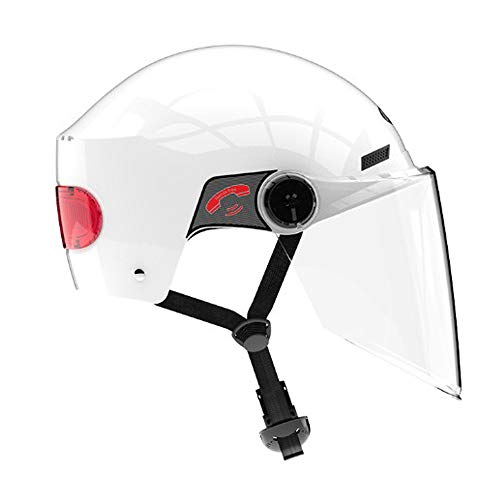 Y&HY Casco Moto Flip Up, Modular Smart Safety Caschi per Biciclette elettriche per Adulti con Bluetooth,Whit
