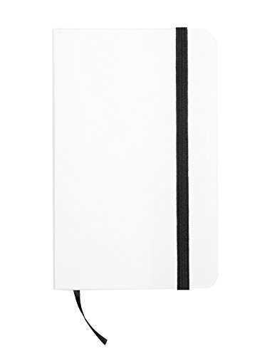 TheVery® Notizbuch Tagebuch Poesiealbum Ideenbuch - notebook diary coloring book ideas book- Din A6 Liniert Hochformat weiß